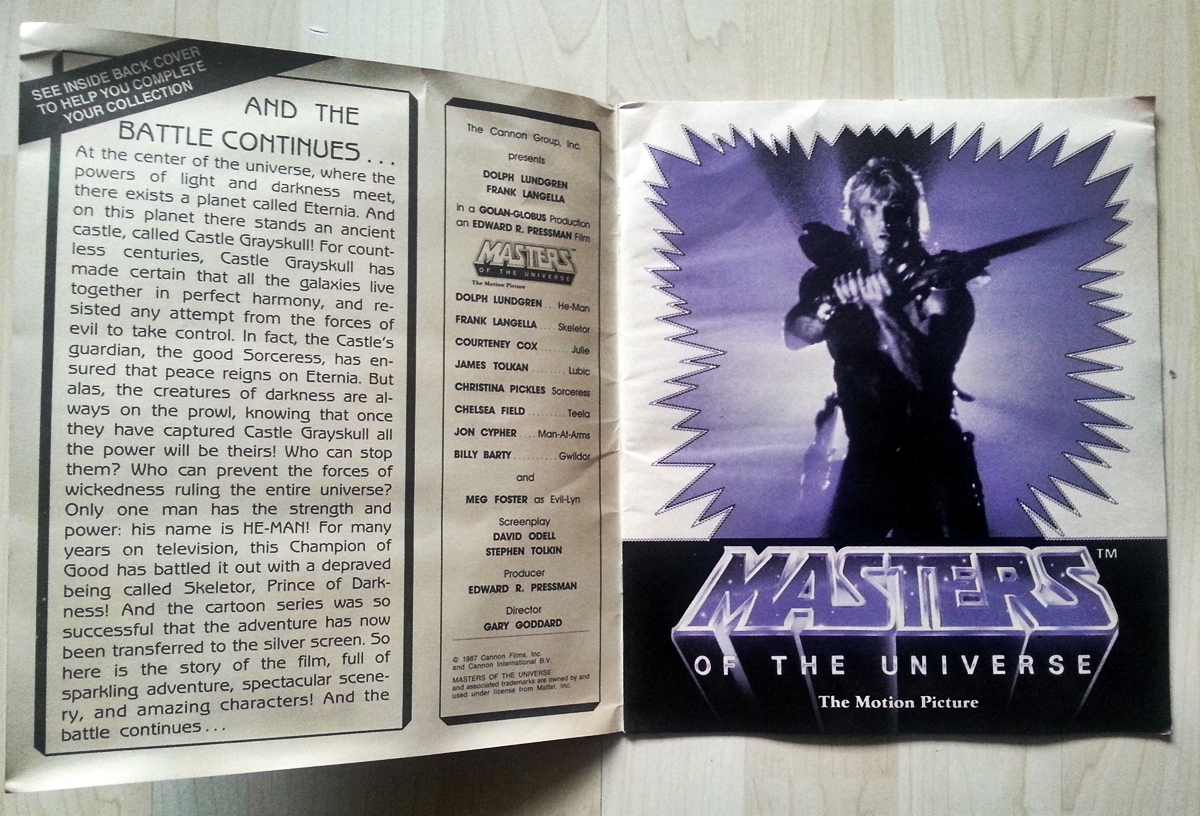 Masters of the Universe Panini Movie Album